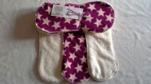 Bamboo Fleece Topped Boosters/Liners pk5  Purple Star!